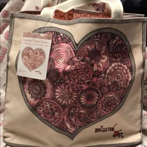 Brighton Express Your Love Canvas Tote